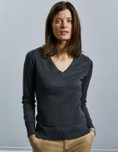 Ladies´ V-Neck Knitted Pullover